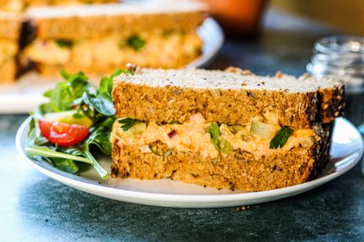 Coronation chickpea sandwich
