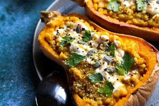 Yellow lentil & pumpkin risotto
