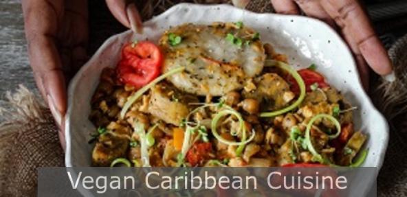 A vegan plantain stew in a bowl