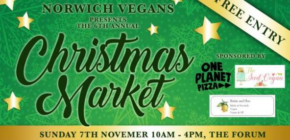 Norich Vegans Christmas Market 2021 poster
