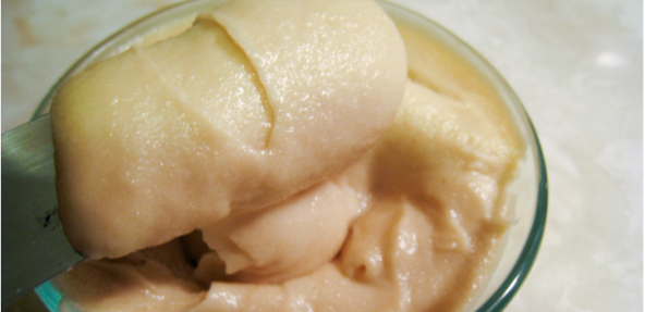 A bowl of almond / cashew cream