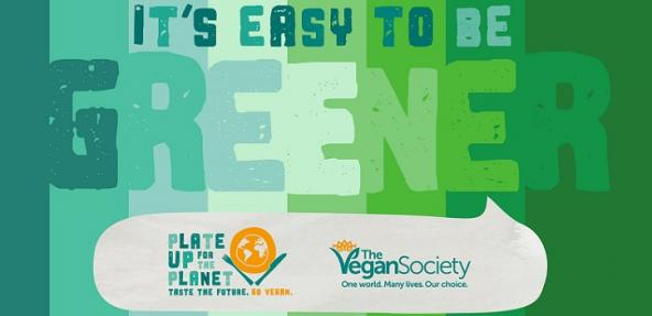 Its easy to be green vegan society campaign banner