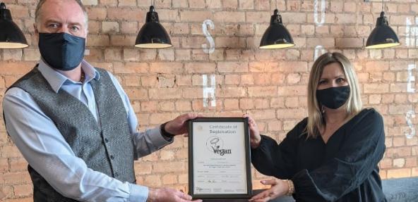 certificate handover to Peiminster