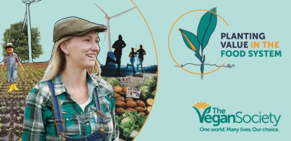 Planting Value in the Food System image with smiling farmer in hat