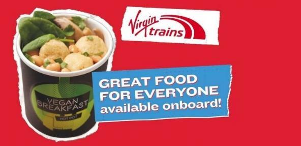 Virgin Trains vegan breakfast meal