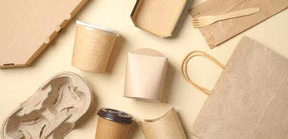 paper cups and bags