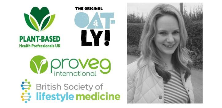 plant based health professionals event banner with Dr Hannah Short
