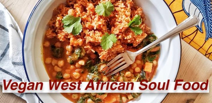 Online Cooking Class Vegan West African Soul Food Banner