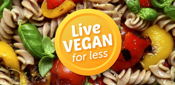 Live Vegan for Less Campaign Logo