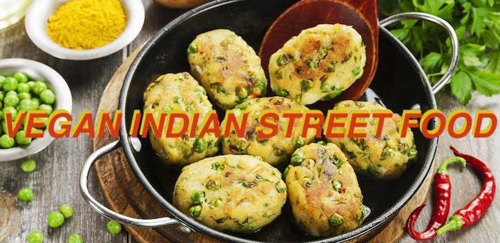 Vegan Indian Street Food Online Cooking Class Banner