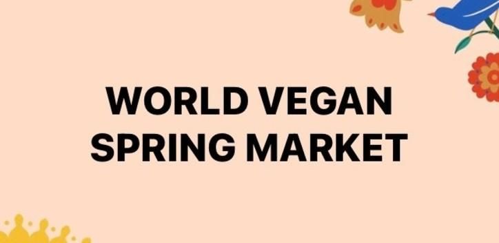 World vegan spring market banner