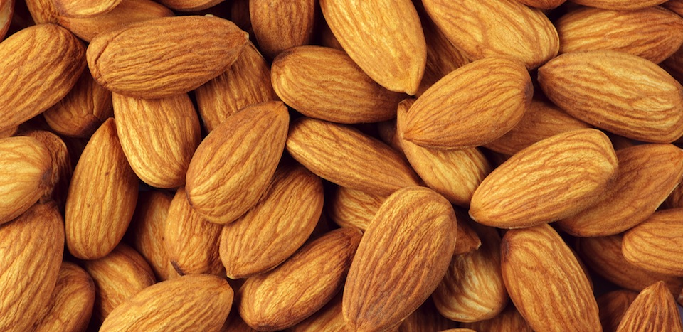 A close up of almonds