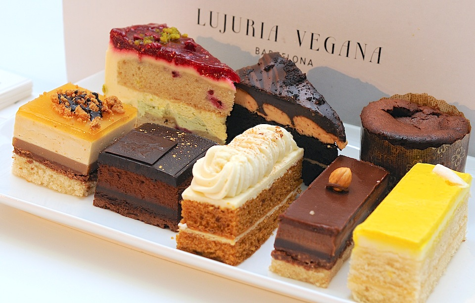 A variety of vegan cakes