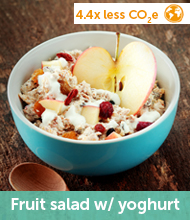 Fruit salad with yoghurt recipe