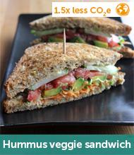 Hummus veggie sandwich recipe