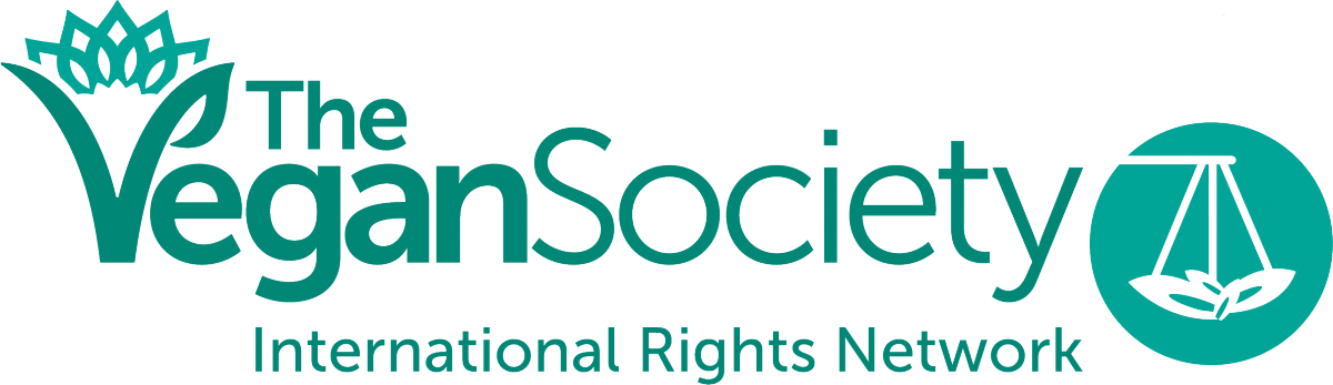 The Vegan Society's international rights network logo