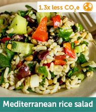 Mediterranean rice salad recipe