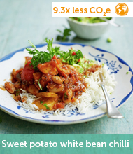 Sweet potato white bean chilli recipe