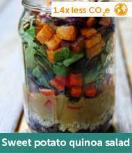 Sweet potato quinoa salad recipe
