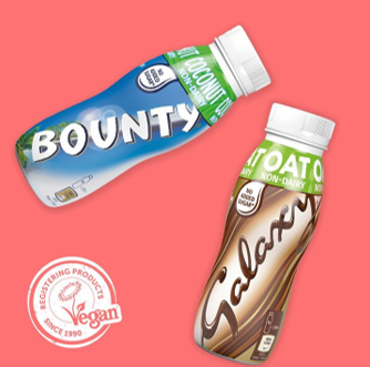 Vegan flavoured milk - bounty and galaxy
