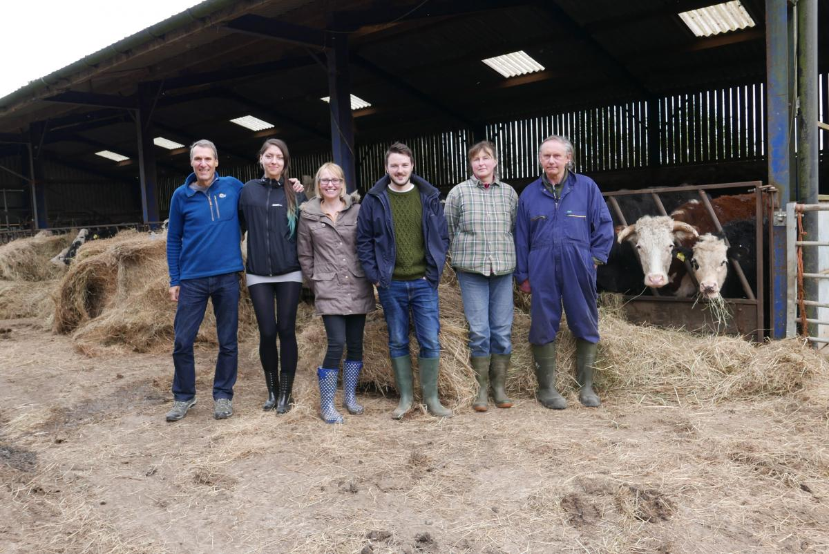 The Vegan Society with the farmers