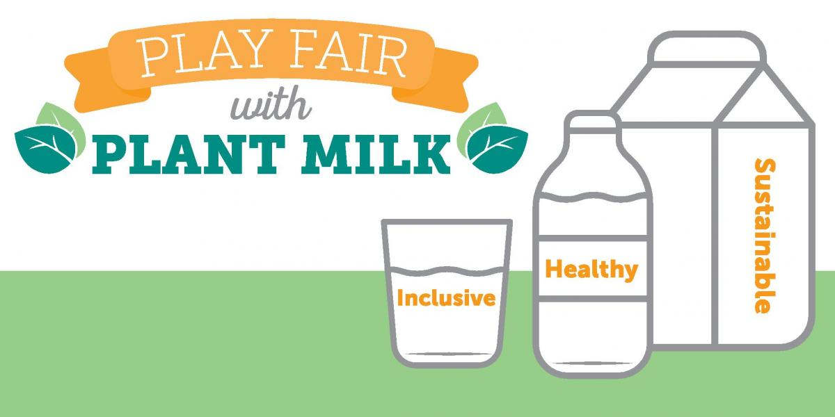 Play Fair with Plant Milk Campaign Banner