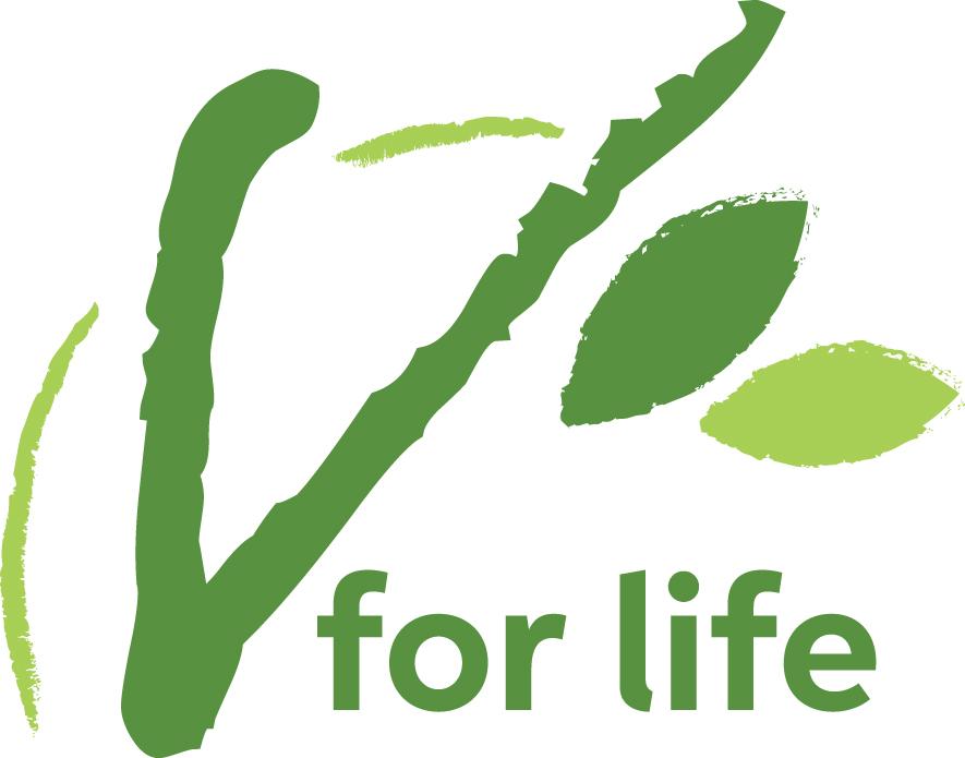 V for Life logo