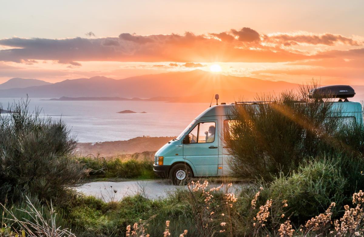 Campervan at sunset - Victoria's Creative Kitchen