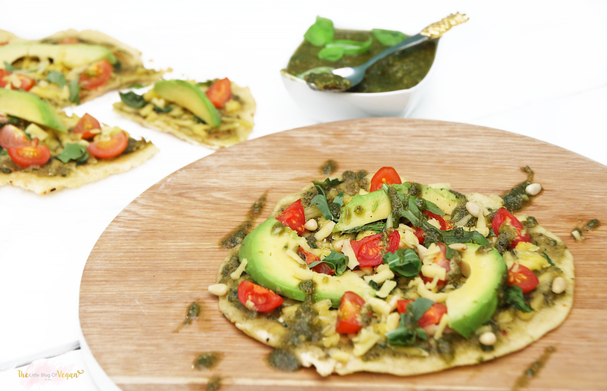 Pesto And Avocado Pizza The Vegan Society