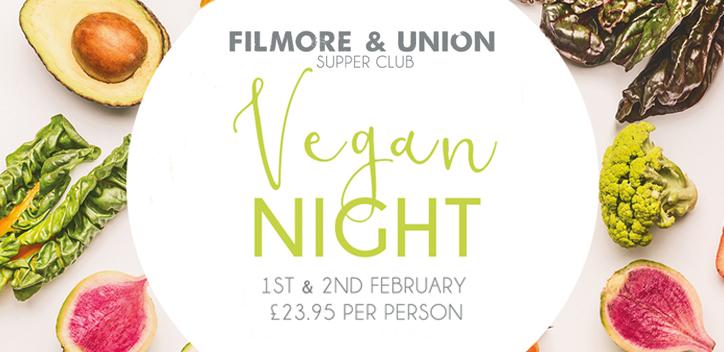 Filmore and Union – Vegan Supper Club Event